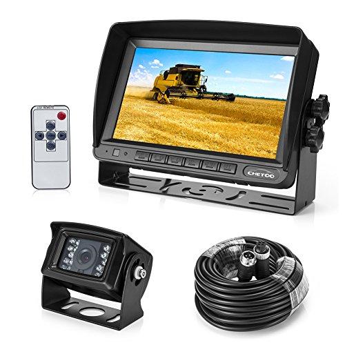 Rckfahrkamera-18-IR-LED-Kamera-7-TFT-LCD-Monitor-KFZ-Zwei-Halterungen