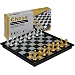 "Travel Magnetic Chess Set - 9.7""'"