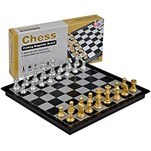 "Travel Magnetic Chess Set - 9.7""'"