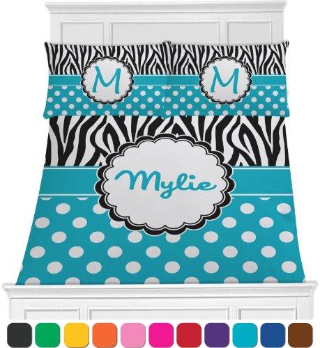 Dots & Zebra Print Bedding Set - Toddler front-1019312
