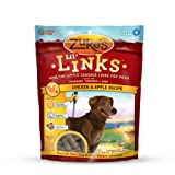 Zukes Lil Links Healthy Grain Free Little Sausage Links for Dogs, Chicken and Apple Recipe, 6-Ounce