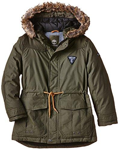 Timberland - PARKA A CAPUCHE, Eskimo per bambini e ragazzi, verde (army), 12 anni (Taglia produttore: 12 anni)