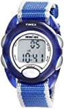 Timex Kids' T7BWater resistance of 3atm is defined as: 30 meters (100 feet) 3 ATM Can withstand rain and splashes of water, such as car washing and showering, but it shouldn't be worn swimming.