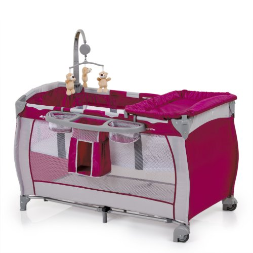 Hauck Babycenter Multi-functional Travel Bed (Pink)