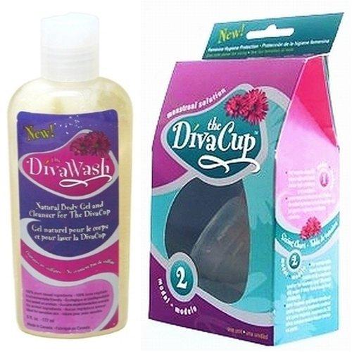 Diva cup model 2 divacup menstrual solution and divawash - Diva cup 2 ...