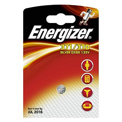 ENERGIZER Lot de 3 Blisters de 1 Pile Oxyde d'Argent pour montres 371/370 SR69