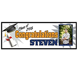 College Graduation Banner Party Supplies Decoration 2ftx6ft Vinyl Banner Graduation Gift 2016 Celebration High School College