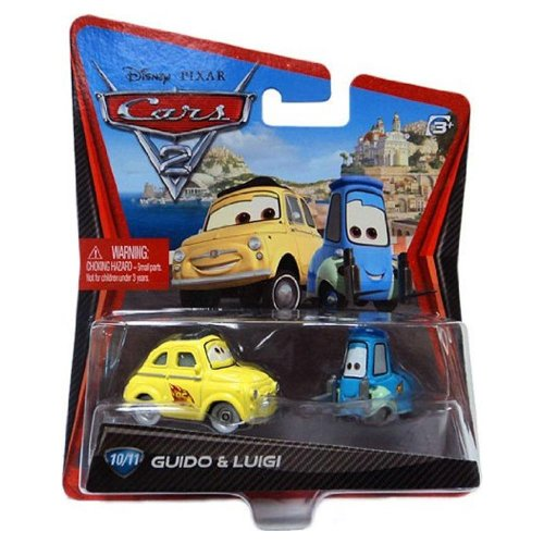 Disney / Pixar CARS 2 Movie 155 Die Cast Car #10 11 Guido Luigi by Mattel - 1