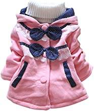 Dreamall Girl39s Fleece Chunky Insulation Cute Bowknot Hoodied Coat