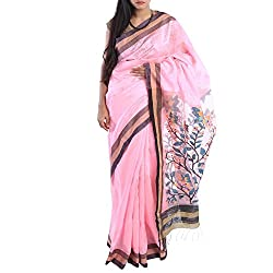 Kiara Crafts Silk Saree (kc-039_Pink)