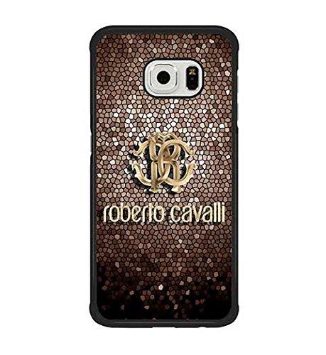 Roberto Cavalli antigraffio antiscivolo, custodia di protezione in plastica, per Samsung Galaxy, S6 Edge (Non adatta per S6)