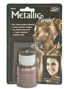 Mehron Make Up Metallic Puder bronze 14g
