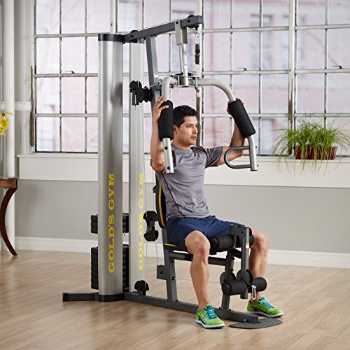 Weider 2980 Home Gym With 214 Lbs Of Resistance: Xr 55 Home Exercise Golds Gym Weight Stack Padded Seat