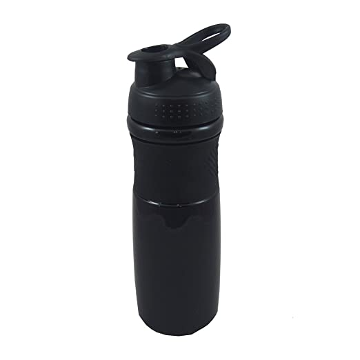 Protein Shake Water Bottle - Best Drink Mixer Blender For Smoothies, Powder Mixes And More - 28 oz, Black/Black - Makes A Per
