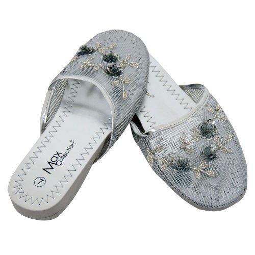Cheap Mesh Slippers – Silver (B00354QUR0)