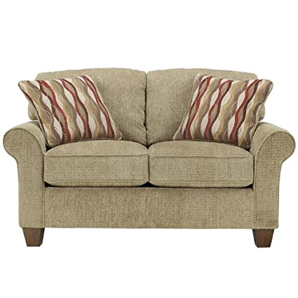 Flash Furniture Newton Loveseat, Pebble Fabric