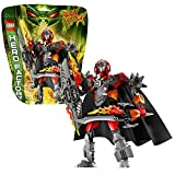 Lego Year 2013 Hero Factory Series 9 Inch Tall Figure Set #44000 - FURNO XL With Fire Sword Fire Shield Cape Armored...