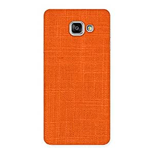 Ajay Enterprises Eli Orange Texture Squary Back Case Cover for Galaxy A7 2016