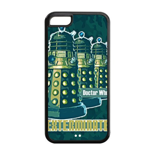Apple Iphone 5C Case Cover TPU Alek Doctor Who Infographic Star Wars R2D7 Vintage