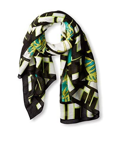 Theodora & Callum Women's Miami Beach Tie All Scarf, Lime/Multi