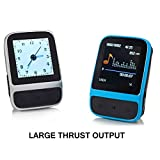 SailFar 8GB Mini Sports Clip HIFI MP3 Player MP4 Player Lossless Sound Large Thrust Output Music/Video Player with Built-in Pedometer,Digital Watch,FM Radio (Silver)