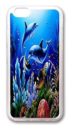 Apple Accessories Cute Dolphin Sea Water Special Design Cell Phone Cases Covers For iPhone 6 No.20 image