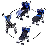 kidz kargo Single Citi Elite Pushchair Suitable for New-Born Child or Toddler Up to 22.5 kg Fizzy Blue