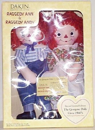 Raggedy Ann & Raggedy Andy Special Limited Edition Georgene Dolls Circa 1940's