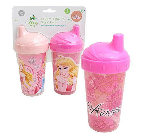 Disney Princess 2/Pack Sipper Cups, 10oz (Cinderella, Belle and Aurora) - 1