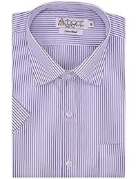 Arihant Men's Poly Cotton Regular Fit Striped Formal Shirt