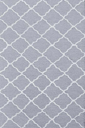 The Rug Market Lattice Children's Area Rug, Grey/White, 2.8' X 4.8'