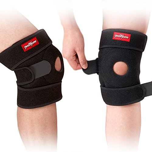 PrettyCare Knee Brace Support ( Soft and Lightweight with 2 Pack ) Adjustable Open Patella Braces Protector & Knee Cap Band Stabilizer For Arthritis, Meniscus Tear, Basketball, Exercise, Running