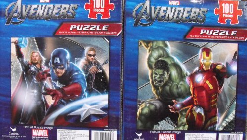 Marvel Avengers 100 Piece Puzzles 2 Box Set - 1