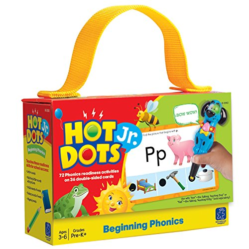 EDUCATIONAL INSIGHTS HOT DOTS JR. BEGINNING PHONICS CARD SET - 1