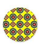 PosterGuy Abstract Tribal Circle Rings Pattern (Yellow) Illustration Fridge Magnet
