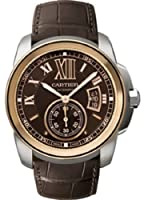 Cartier Calibre de Cartier Brown Dial Pink Gold Bezel Automatic Mens Watch W7100051 from Cartier