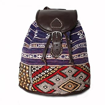 Handmade Leather and Kilim Backpack, Zoumi
