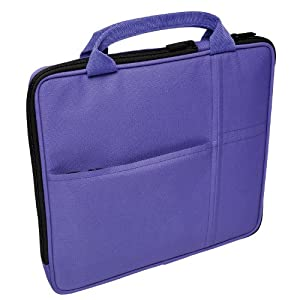 V7 Bag with Multi-Pockets and Handle for iPad, Kindle Fire and Upto 9.7 inch Tablet PCs - Purple