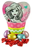 Disney Princess Easter Basket with Heart Shape Ariel Candy Box and Chocolates