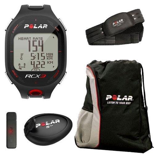 Cheap Polar 90042154 RCX3M SD Run in Black with Cinch Bag (90042154KT1)