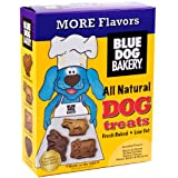 Blue Dog Bakery Natural Low Fat Dog Treats, Assorted Flavors, 20-Ounce Boxes (Pack of 6)