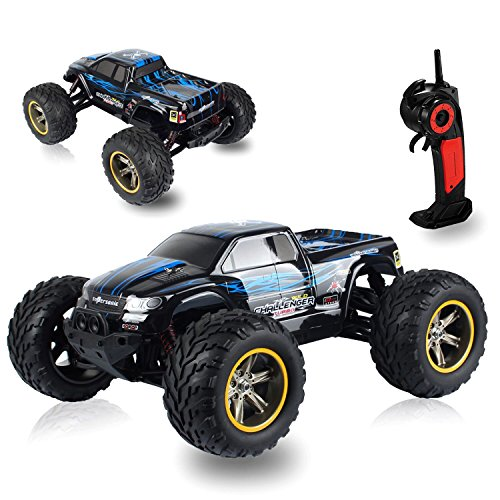AMOSTING S911 33MPH 2.4GHz 2WD Off Road Waterproof Monster RC Truck, 1/12 Scale - Blue (Monster Trucks Rc compare prices)