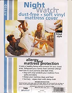 Soft Vinyl Fitted Mattress Cover, Twin Size