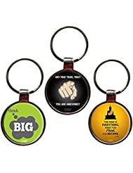 Combo To Inspire Set Of 3 Quote Metal Key Chains By QuoteSutra