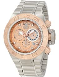 Invicta Mens 10142 Subaqua Noma IV Chronograph Rose Gold Tone Textured Dial Watch