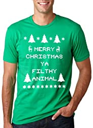 Filthy Animal T Shirt Funny Ugly Sweater Shirt Christmas Tee from Crazy Dog Tshirts