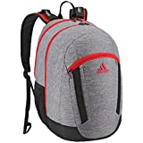 adidas Excel Backpack, Heather Grey/Black/Scarlet, One Size