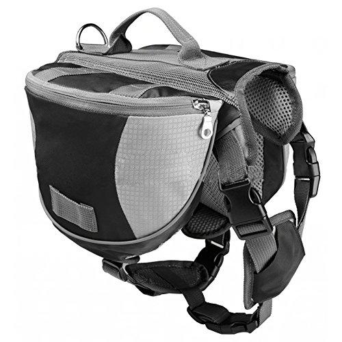 Artikelbild: Haustier Rucksack - TOOGOO(R) Haustier Rucksack Hund Satteltasche mittel und gross Hunde Harness Tasche Ideal fuer Outdoor Wandern Camping Trainings-S grau