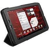"""igadgitz Schwarz PU Leder Tasche Schutzhülle Etui Case Hülle für Motorola Xoom 2 Media Edition Droid Xyboard 8.2"""" Android Tablet 16GB Wi-Fi 3G + Display Schutzfolie"""