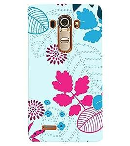 PrintVisa Corporate Print & Pattern Modern Art Floral 3D Hard Polycarbonate Designer Back Case Cover for LG G4